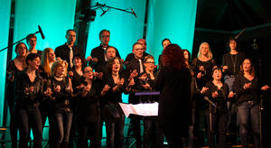 'We will rock you' -  Voiceful the choir begeistert in der Alten Kelter in Obersulm-Eichelberg