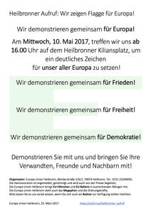 Aufruf zur Demonstration in Heilbronn!