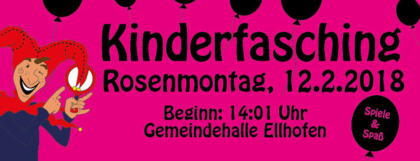 Kinderfasching in Ellhofen
